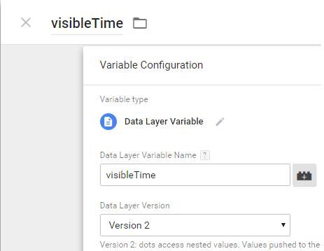 Visible Time Data Layer Variable