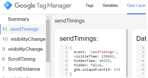 Track time on page - Send Timings event