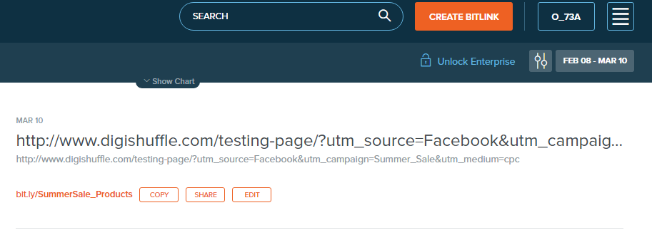 Bitly - URL Tagging - Campaign Tracking