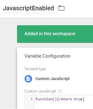 Custom Javascript Variable - GTM
