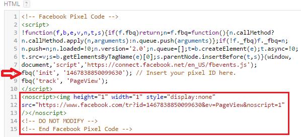 Facebook Pixel Base Code - Pixel ID