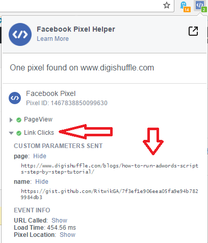 Outbound Links Facebook Pixe Helper - Digshuffle