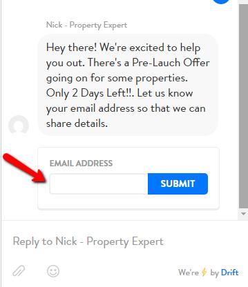 Drift Email Address Pitch