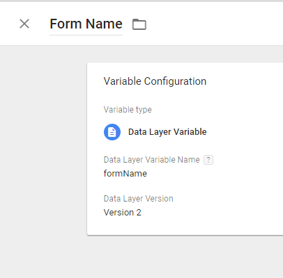 Form_Name GTM Variable - Caldera Form - Digishuffle