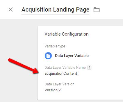 AcquisitionLandingPage - GTM