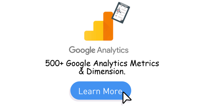 List Of Google Analytics Metrics & Dimensions